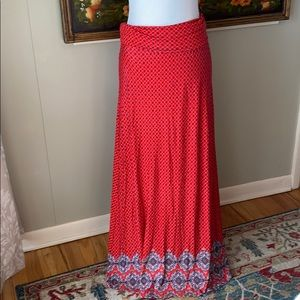 Loveappella Red Maxi Skirt